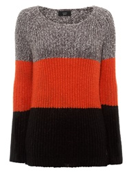 Numph Magda Colour Block Jumper Tigerlily
