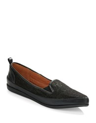 Adrianna Papell Lennox Leather Loafers Black