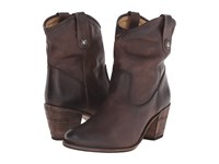 Frye Jackie Button Short Slate Antique Pull Up Women's Dress Pull On Boots Black