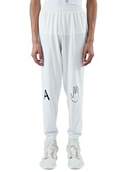 Von Sono Embroidered Patch Track Pants White
