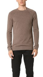 Helmut Lang Core Cashmere Crew Sweater Walnut