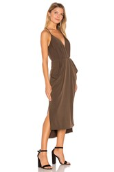 Bcbgeneration Faux Wrap Midi Dress Chocolate