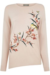 Oasis Asymmetric Bird Knit Light Pink