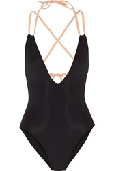Solid And Striped The Alexandra Two Tone Swimsuit