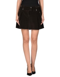 Prada Sport Mini Skirts Dark Brown