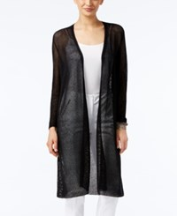 Alfani Lightweight Open Front Duster Cardigan Only At Macy's Deep Black