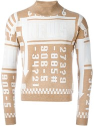 J.W.Anderson J.W. Anderson Numbers Intarsia Sweater Nude And Neutrals