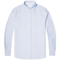 Norse Projects Anton Melange Oxford Shirt Blue