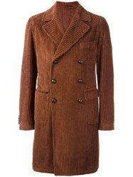 Tagliatore Double Breasted Coat Brown