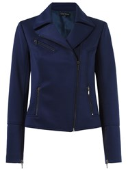 Gloria Coelho Biker Jacket Blue