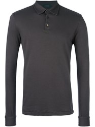 Zanone Longsleeved Polo Shirt Grey