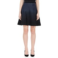 Prabal Gurung Women's Metallic Flared Miniskirt Navy