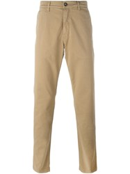 Kenzo Straight Leg Chino Trousers Nude And Neutrals