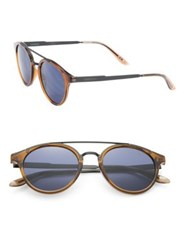 Carrera 49Mm Round Sunglasses Light Brown Blue