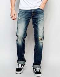 True Religion Jeans Geno Flap Cpsm Concrete Lake Blue