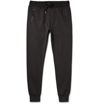 Burberry Tapered Loopback Cotton Jersey Sweatpants Black