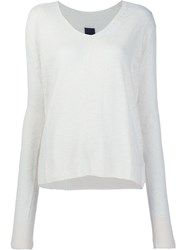 Rta 'Camille Distress' Sweater White