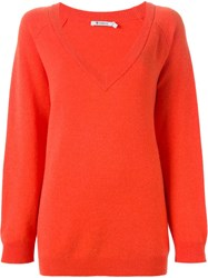 T By Alexander Wang V Neck Sweater Yellow And Orange