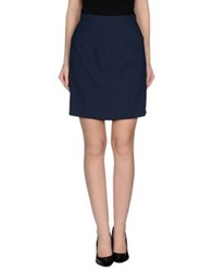 Antonio Fusco Knee Length Skirts Dark Blue