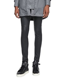 Current Elliott Lambskin Ankle Skinny Pants Washed Black