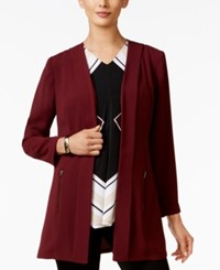 Alfani Petite Open Front Blazer Only At Macy's Marooned