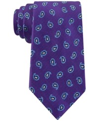 Club Room Men's Oxford Pine Classic Paisley Tie Only At Macy's Purple