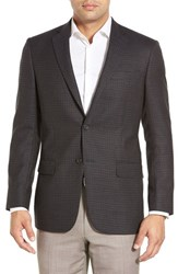 Men's Big And Tall Hart Schaffner Marx 'New York' Classic Fit Check Wool Sport Coat Blue