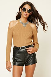Forever 21 Ribbed Open Shoulder Top