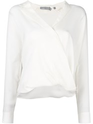 Vince Wrap Blouse White
