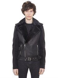 Christophe Terzian Perfecto Wool And Leather Jacket W Fur