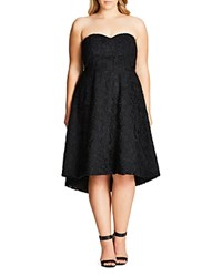 City Chic Clara Convertible Lace Dress Black