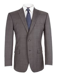 Pierre Cardin Check Notch Lapel Jacket Grey