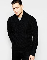 Scotch And Soda Pullover Knitted Jumper In Monsanto Black