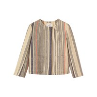 Toast Boxy Stripe Hemp Jacket Multi