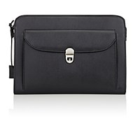 Barneys New York Men's Pocket Front Portfolio Black Blue Black Blue