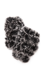 Jocelyn Mandy Fur Mittens Black Cement