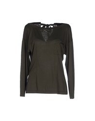 Prada Topwear T Shirts Women Military Green