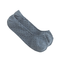 J.Crew No Show Socks In Dot Chambray Navy Dots