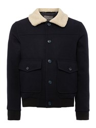 Peter Werth Caff Blouson Button Bomber Jacket Navy