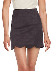 Saks Fifth Avenue Red Solid Scalloped Skirt Black