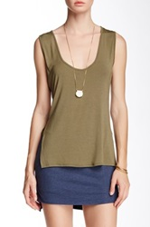 Riller And Fount Terry Slit Side Cutout Back Tank Green