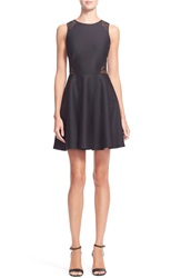 Ted Baker 'Venma' Sheer Back Organza Dress Black