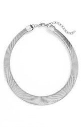 Nordstrom Women's Snake Chain Collar Rhodium
