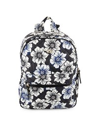 Kate Spade Siggy Quilted Floral Backpack Black Multi