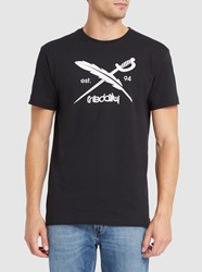 Iriedaily Black Daily Flag Fitted T Shirt