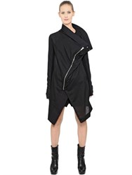 Rick Owens Draped Silk And Cotton Gauze Coat