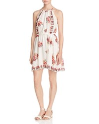 Joie Valletta Floral Print Silk Dress Porcelain