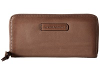 Frye Jenny Zip Wallet 2 Grey Soft Vintage Leather Wallet Handbags Taupe