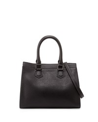 French Connection Shane Faux Leather Satchel Bag Black
