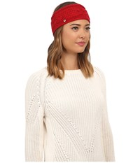 Ugg Isla Lurex Cable Headband Scarlett Multi Headband Red